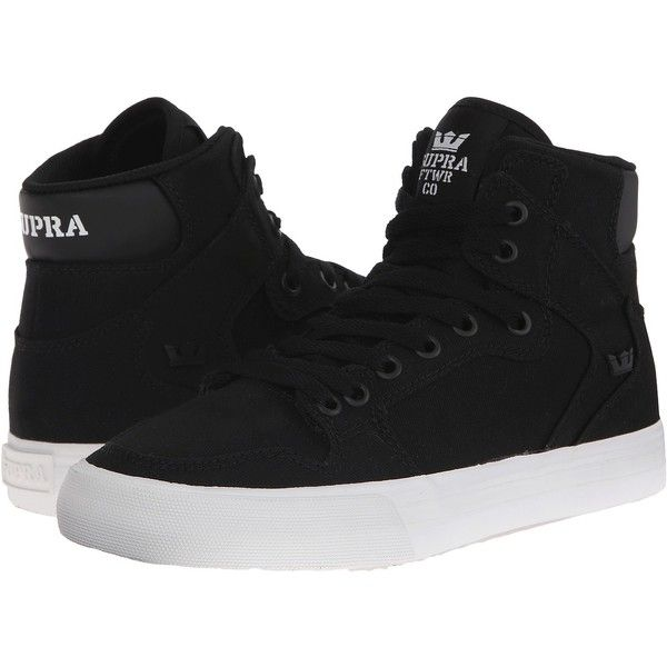 Supra Vaider D Women's Skate Shoes (£57) ❤ liked on Polyvore featuring shoes, canvas shoes, supra shoes, hi tops, supra high tops and hi top canvas shoes