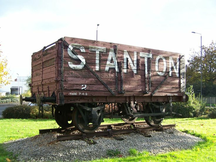 Ilkeston Stanton Ironworks Wagon - on roundabout in town centre