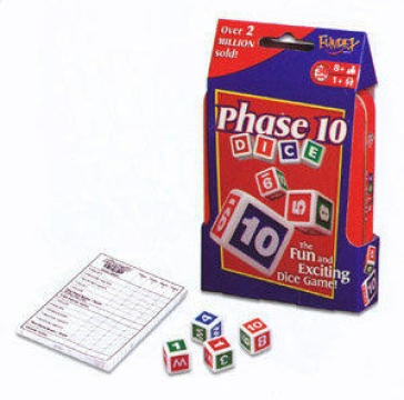phase 10 dice game targets