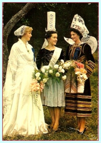 Bretagne Wedding - Vintage French costumes are still traditionally worn for special fete occasions