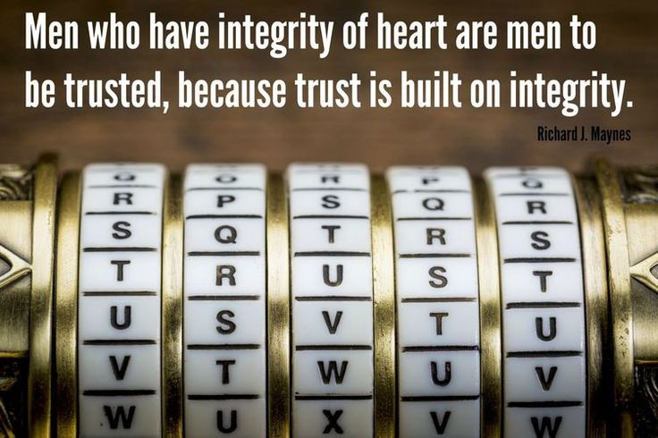 """""""The principle of trust plays an extremely important role in the development of a Christ-centered [life and] home. Integrity is a fundamental element of one's character. Men who have 'integrity of heart' are men to be trusted—because trust is built on integrity."""" From #ElderMaynes' inspiring Oct. 2017 #LDSconf http://facebook.com/223271487682878 message Learn more http://lds.org/youth/for-the-strength-of-youth/honesty-and-integrity and #passiton. #ShareGoodness"""