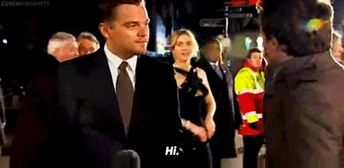 She once said hi to him during an interview, and it was adorable. | Kate Winslet And Leonardo DiCaprio Should Be Together In Real Life