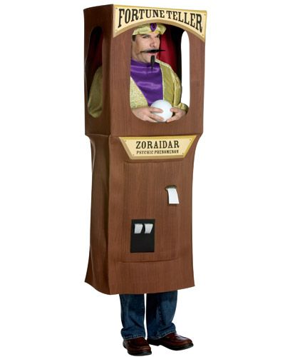 Fortune Teller Costume- would be perfect as a wheelchair costume, using refrigerator-size box or stove-size box (to do bottom half only)!