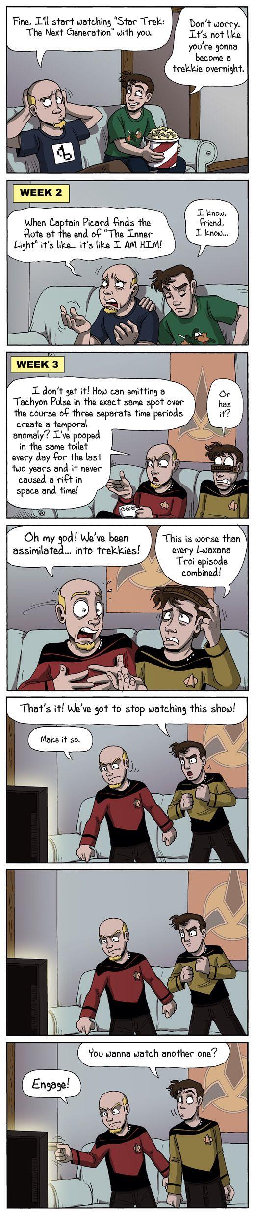 How regular people become Trekkies. Star Trek