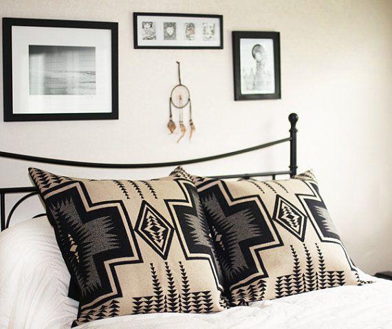 RAISCASE | Large Diamond pillow covers made with Pendleton fabric  renegadecraft.com/losangeles-summer-home