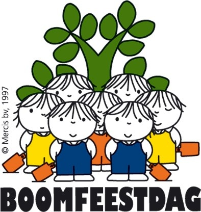 Anual event, 'Boomfeestdag' Tree Plant Day. Drawing by Dick Bruna.