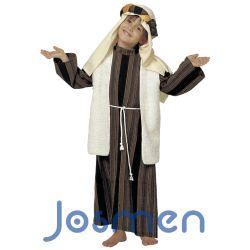 Disfraz Pastor Hebreo Niño: Un disfraz de Pastor Hebreo o Pastorcillo para niño para utilizar en los Belenes o Nacimientos Vivientes de las Fiestas Navideñas. http://www.disfracesjosmen.es/574-disfraz-pastor-hebreo-nino.html