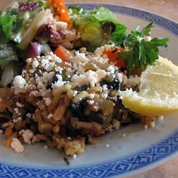 Greek Spinach and Rice (Spanakorizo):  A great recipe using #lundberg rice