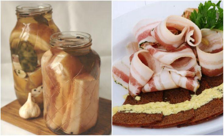 Ponúkame vám recept na neobvyklú prípravu slaniny.Vaše chuťové bunky budú v eufórii a vy, aj napriek konzumácii tukov, zostanete zdraví! Ingrediencie 2 kg slaniny 220 g soľ 1.250 l vody 3-5 bobkových listov 10ks celého čierneho korenia 5-8 strúčikov cesnaku Postup prípravy Pripravte si soľný roztok.Nalejte vodu do hrnca, pridajte soľ, dajte na plameň a miešajte, aby sa soľ rozpustila.Priveďte