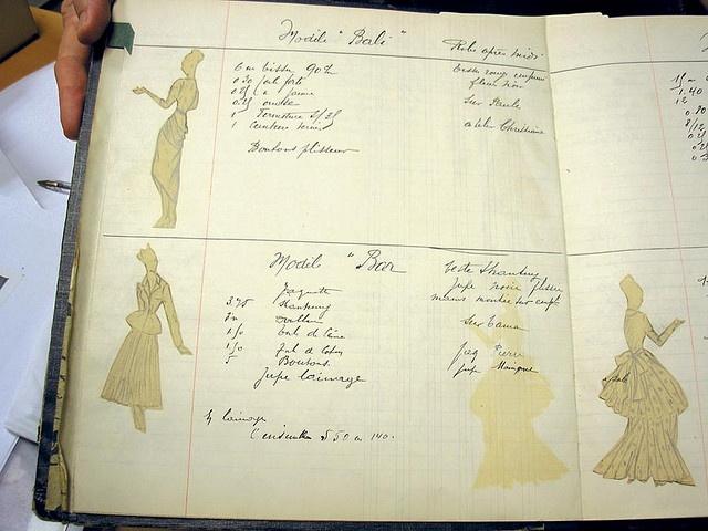 Christian Dior's fashion sketchbook