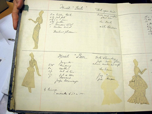 Christian Dior's fashion sketchbook