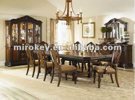 El estilo cl sico de madera de comedor sala de juego for Decorar vitrina de comedor