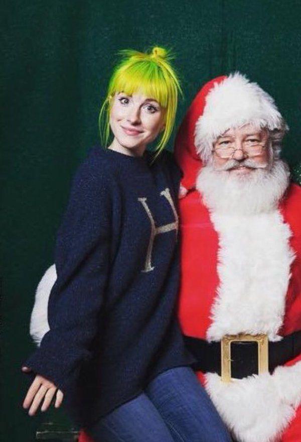 Hayley Williams and Santa