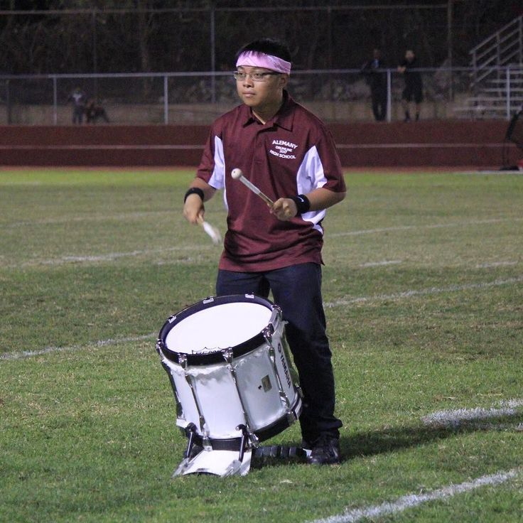 Joshua during the drumline halftime senior solos. Photo by Sabrina Camberos. #drumline #drums