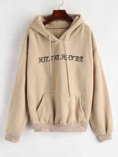 Pouch Pocket Graphic Fleece Hoodie. Cute Sweatshirts Cool
