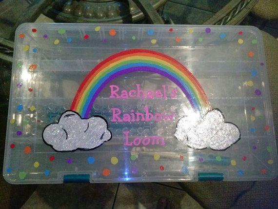 Personalized Rainbow Loom Organizer by moveitmartha on Etsy, $25.00