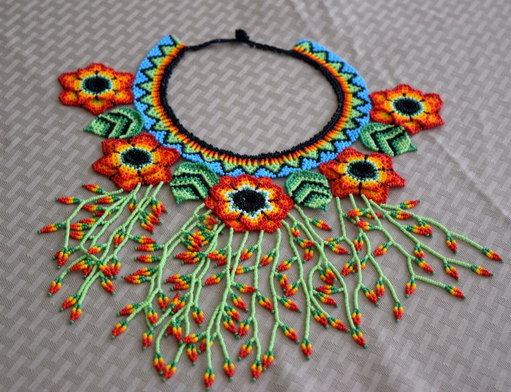 Colombian Glass Bead Necklace (BN544) | Little Colibri