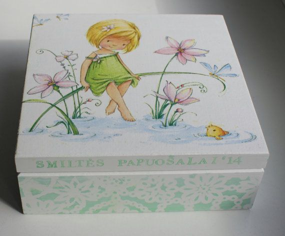 Decoupage+box+decorated+wood+jewelry+boxhandmade+wooden+by+Diumont,+$18.00