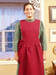 how to make a plain Amish style apron