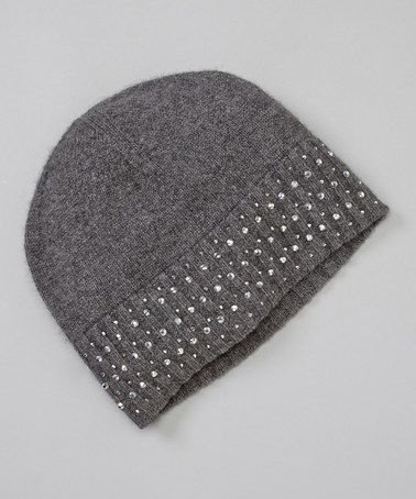 Take a look at this Charcoal Crystal Rib Cashmere Hat by Forte Cashmere on #zulily today!