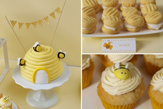 nasagreen: Bumblebee Baptism Party - 4 - Beehive Cake