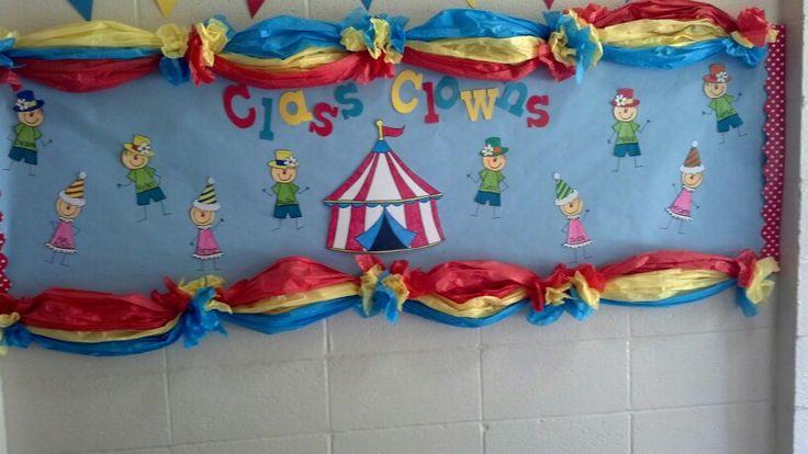 Circus theme bulletin board