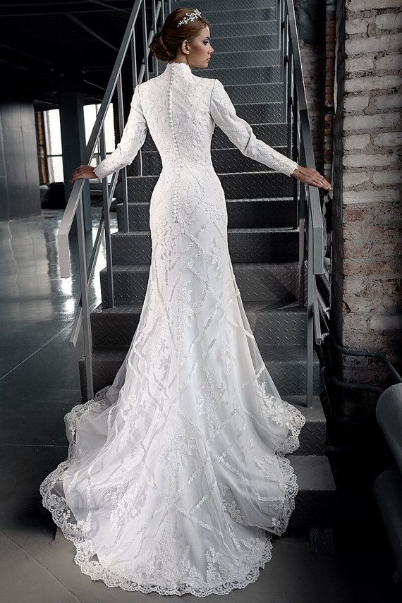 201 best Modest Gowns for the Conservative Bride images on Pinterest ...