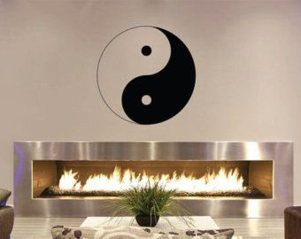 Yin Yang Wall Decal Yin and Yang Decal by TrendyWallDesigns