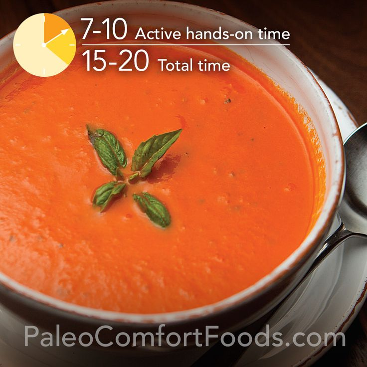 Creamy (Dairy-Free) Tomato Soup from Paleo Comfort Foods.  http://paleocomfortfoods.com/?p=3448