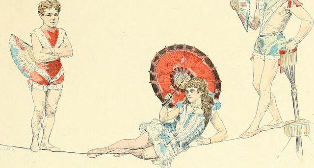 """Изображение со страницы 170 """"Les Jeux дю Cirque и др ля ви foraine. Illus. Де-Жюль Гарнье"""" (1889 г.)"""