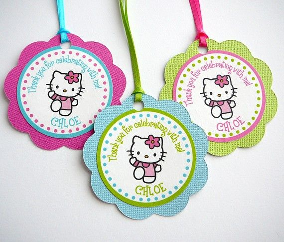 Hello Kitty Favor Tags