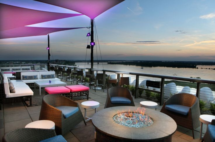 We are ready for the weekend! Rooftop bar at the #MadisonHotelMemphis