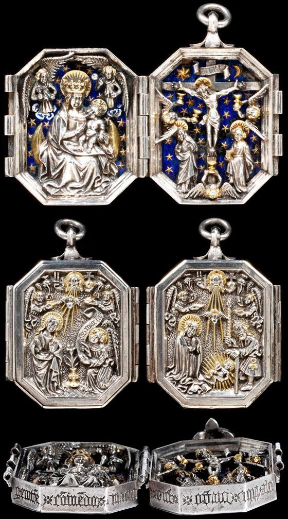 Medieval jewellery 1200–1500 / Diptych Pendant, maker unknown, about 1450-80. Museum no. 213-1874