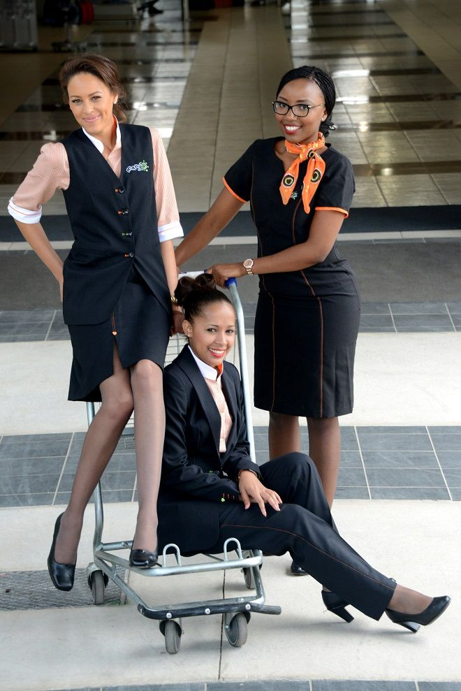 Mango Airlines new air hostess outfits.