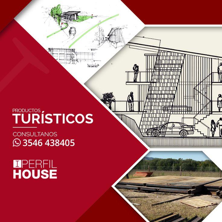 Productos Turisticos Perfil House.  Hostería en el Valle De Calamuchita Córdoba Argentina.  Construcción con perfilería de acero, menores costos y tiempos de ejecución.