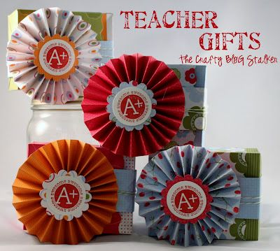 Teacher Appreciation Gift - Paper Box filled with treats ♥ www.thecraftyblogstalker.com
