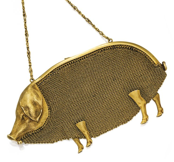Gold Cochon Purse by Paul Frey for Lacloche Freres, circa 1900.