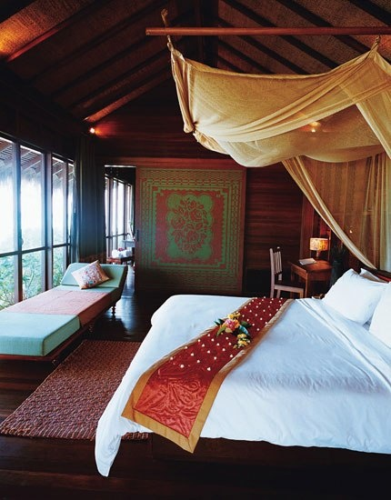 Zeavola, a typical new small beach resort on Phi Phi Don, charges only about $150 for each of its 20 suites