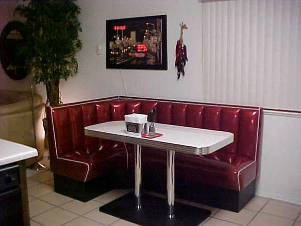 L Shaped Diner Booths Restaurant Kitchen