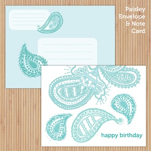 Paisley Stationery Suite (printable)