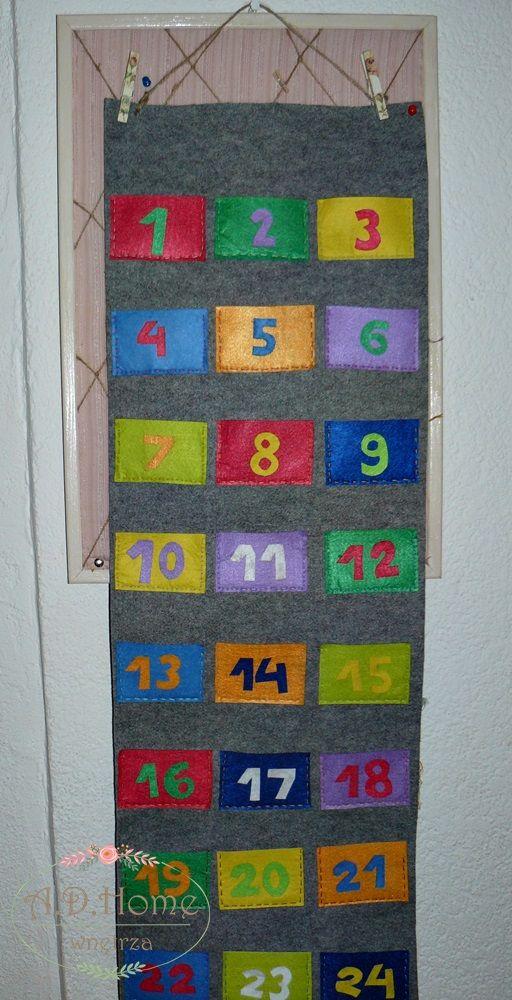 kalendarz adwentowy hand made, pracownia A.D.Home