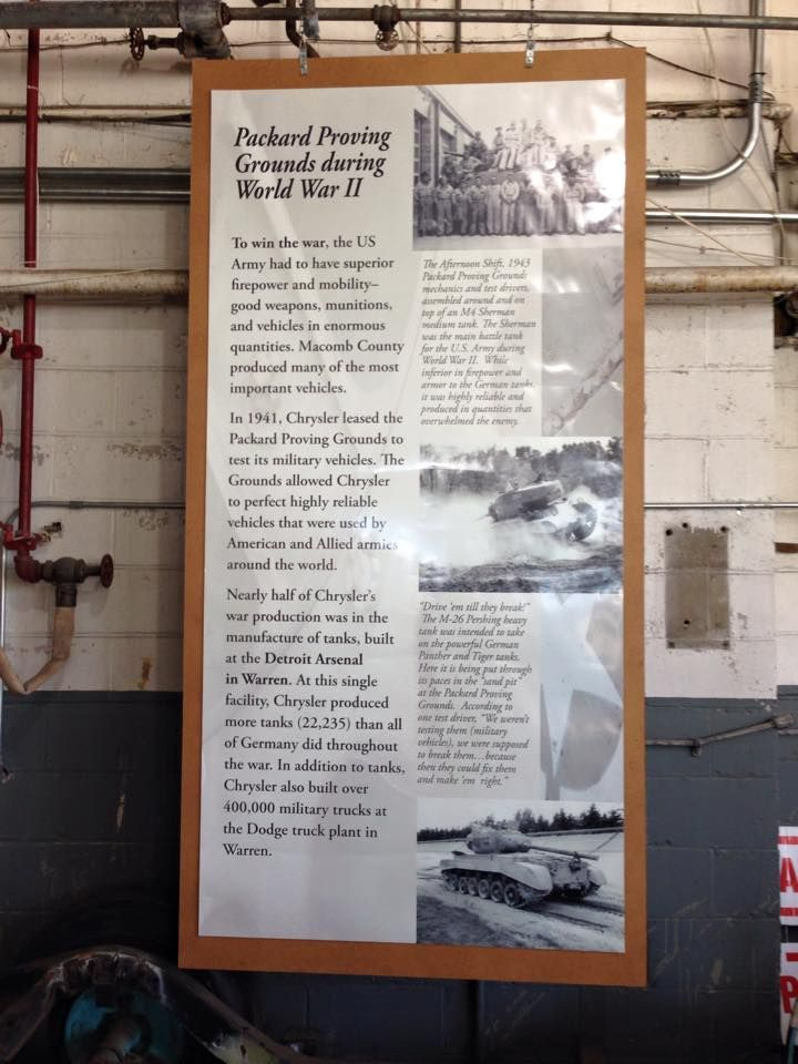 Informational poster in the Engine room seen at the 2015 Annual Open House.