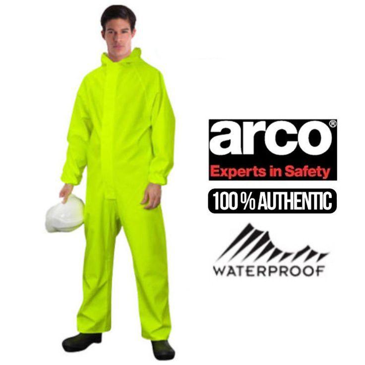 Mens Waterproof Boilersuit Hooded Dungarees Overalls Breathable Work Rain Suit   eBay