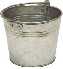 Galvanized Flower Bucket traditional-cleaning-buckets