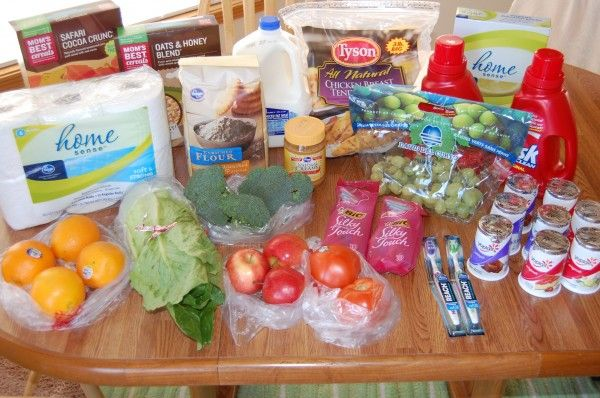 Gretchen's $40 Grocery Shopping Trip and Weekly Menu Plan