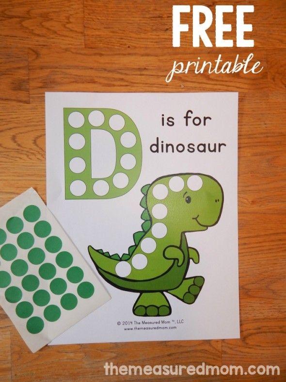 Free Letter D Printable