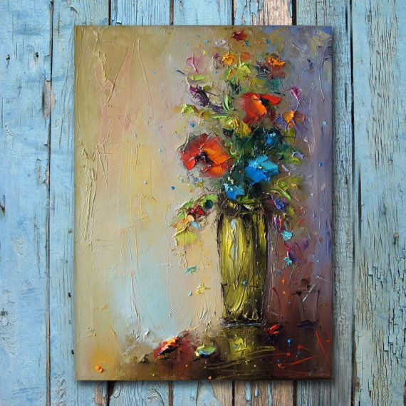 Oil Painting Canvas Painting Abstract by StanislavLazarovArt