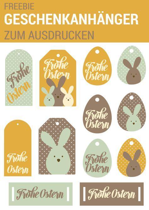 Geschenkanhänger zum Ausdrucken für Ostern. Ein Geschenk zu Ostern habt ihr schon, aber noch keine Geschenkanhänger? Da haben wir doch was für euch – 12 österliche Geschenkanhänger zum Ausdrucken! www.miomodo.de/blog