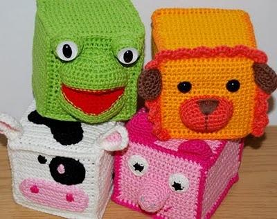 Crochet animal cubes