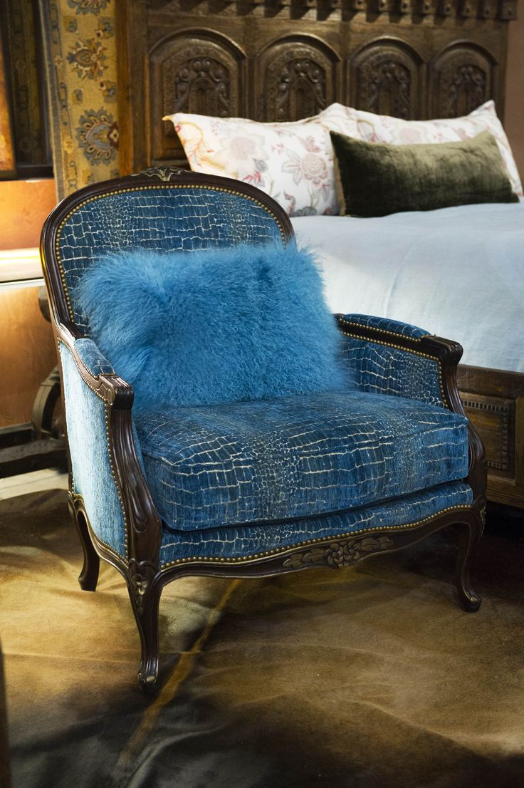 Teal Tibetan Occasional Chair
